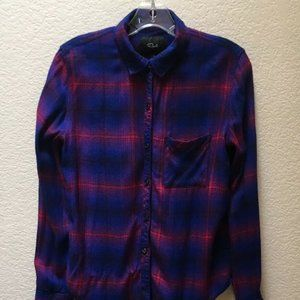 Rails Shirt Women's Blue Red Plaid Blouse